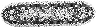 product image for Heritage Lace Victorian Rose 13-Inch by 54-Inch Runner, White