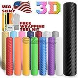 Free Tool Kit EZautowrap Purple 3D Carbon Fiber Textured Matte Car Vinyl Wrap Sticker Decal Film Sheet - 12'X60' (1FT X 5FT)