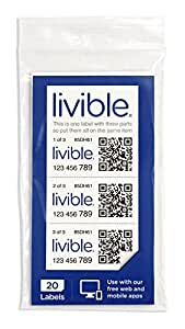 Livible Labels - for use with free app and Amazon cloud storage