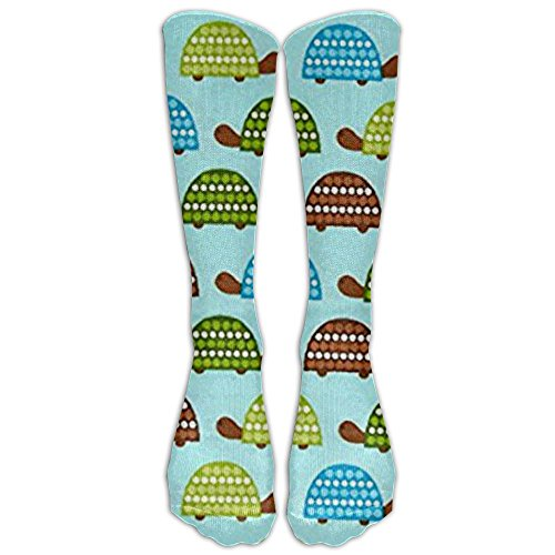 New Wild Bunch Flannel Turtles Park Knee High Graduated Compression Socks For Women And Men - Best Medical, Nursing, Travel & Flight Socks - Running & Fitness (Park Flannel)