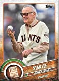 Stan Lee 2015 Topps Series 2 FIRST PITCH Insert Card #FP-21 Giants Marvel shipped in an acrylic case