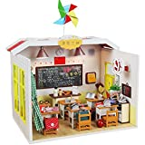 SEPTEMBER DIY Wooden Dollhouse Miniature LED Lights Kids Classroom Model Graduation Birthday Gift My Old Classmates