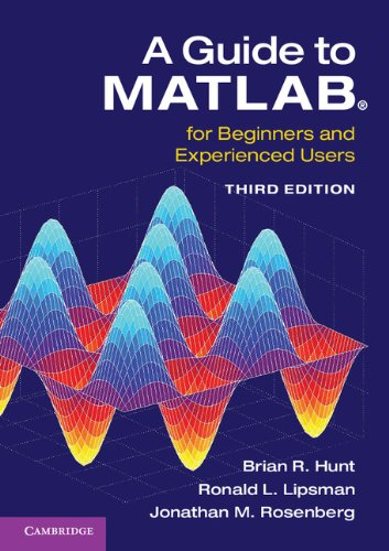 A Guide to MATLAB ISBN-13 9781107662223