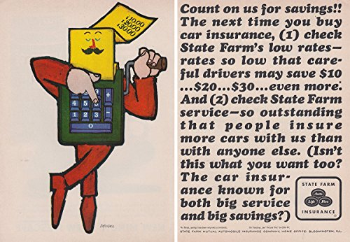 1963 State Farm Insurance  Count On Us For Savings  State Farm Insurance Print Ad