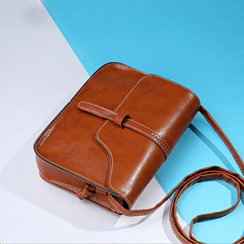 Women's Messenger mini Leather Shoulder Cross Vintage Body shoulder GINELO diagonal Brown Bag Hr6CHxqw