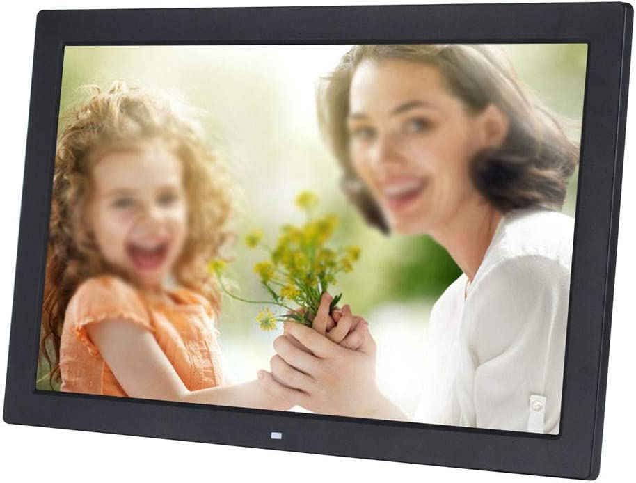 Digital Photo Frame 19 Inch Digital Photo Frame 1366768 Pixels High Resolution LED Screen 1080P HD Video Playback USB And SD Card Slots Remote Control Included 2 Colors for Pictures and Videos