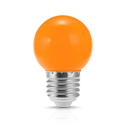 jandcase led globe orange light bulb 1w opaque tiny g14 bulb for christmas