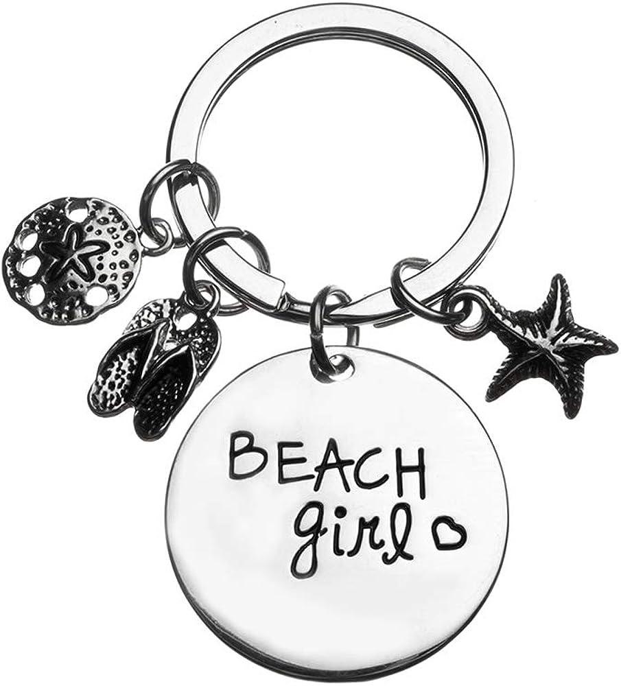 Women/'s Beach Jewelry Life is Better at the Beach Friendship Gift for Beach Girls Beach Girl Keychain