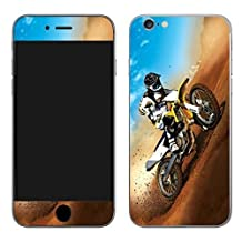 Motorcross dirtbike vinyl SKIN decal sticker for Apple iphone 6 (4.7 inch screen)