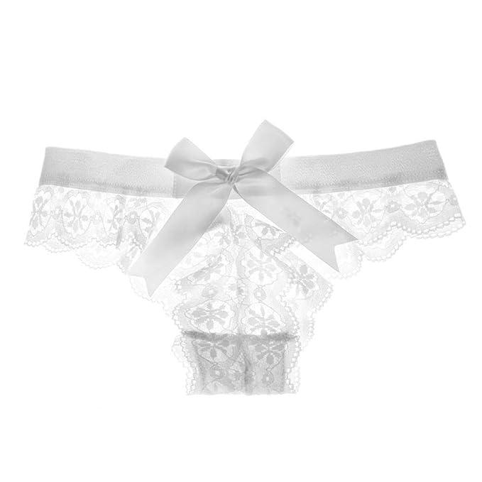H-M-STUDIO Calzoncillos para Damas Camisetas Sexys Encaje Transparente Pajaritas Pantalones Pantalones Damas. S Blanco: Amazon.es: Ropa y accesorios