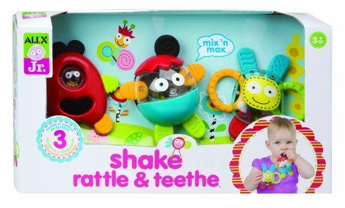 5 X ALEX Jr. Shake, Rattle & Teethe