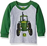 John Deere Boys' Big Tractor Tee, Grey/Green, 24 Months