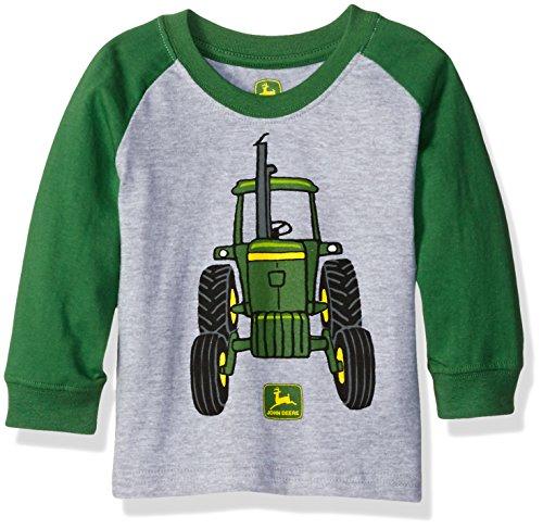 John Deere Boys' Big Tractor Tee, Grey/Green, 12 Months