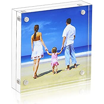 Amazon.com - 4x4 Clear Picture Frame, Double Sided Acrylic Photo ...