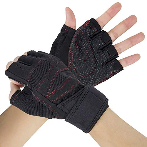 OFTEN Weight Lifting Gloves with Wrist Wrap Full Palm Protection and Extra Grip,Anti-Slip Breathable Gym Gloves for Weightlifting, Training, Fitness, Workout, Hanging, Pull ups, Men& Women
