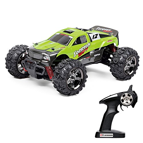 Vatos RC Auto Off Road High Speed 4WD 40km/h Im Maßstab 1:24 Fernbedienung 50M 30 Minuten Spieldauer 2.4GHz Elektro Buggy mit wiederaufladbaren Batterien und Akku (Grüne)