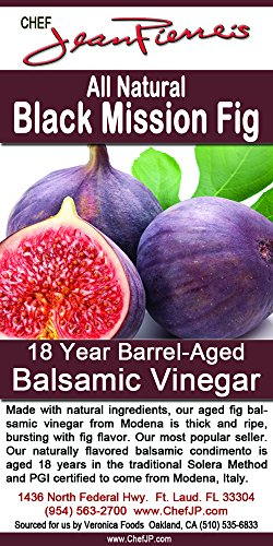 Black Mission Fig Aged 18 Years Italian Balsamic Vinegar 100% All Natural (200ml) (7oz)