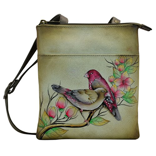 Anuschka Hand Painted Leather Rfid Blocking Triple Compartment, Summer Tryst by Anna by Anuschka