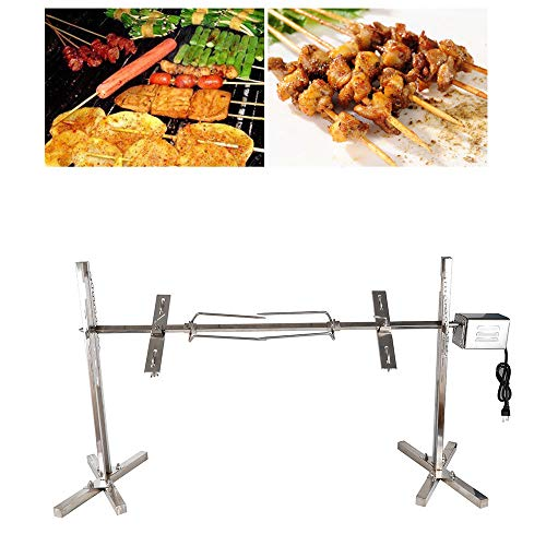 YIWON 70KGF.cm Stainless Pig Chicken Grill Electric Rotisserie Roaster 15W Motor BBQ Electric Rotisserie Roaster