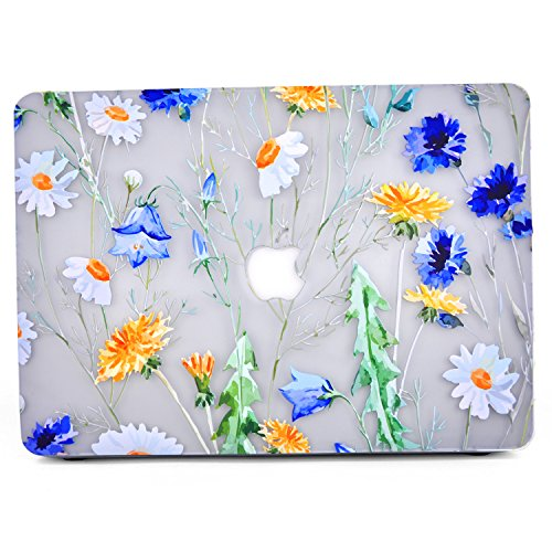 - L2W MacBook Air 11 Case, Floral Design Pattern Glossy Matte Clear See-through Case Cover for Macbook Air 11