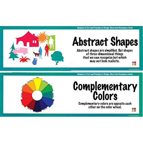 Crystal Productions Elements of Art and Principles of Design Display Cards, Set of 36