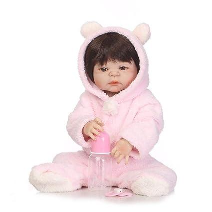 Hongge Reborn Baby Doll,Completo de Silicona Realista bebé Reborn ...