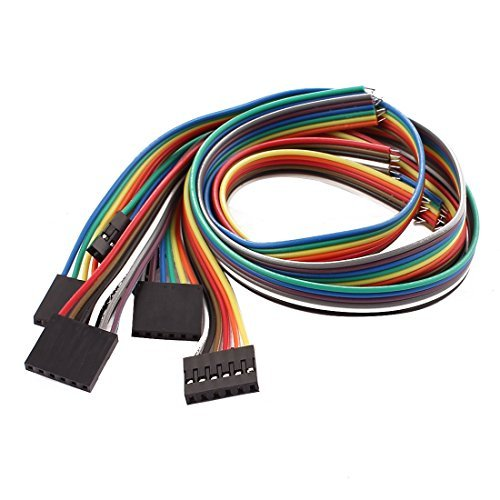 Amazon.com: eDealMax Alambres 5 piezas de 6P Jumper Cables planos femeninos Pi Pico de tablero de bricolaje 30 cm de Largo: Electronics