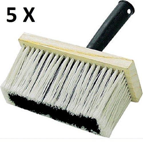5 Stück Deckenbürste, Quast 170 x 70 mm Malerbürste Tiefgrundbürste Kleisterbürste