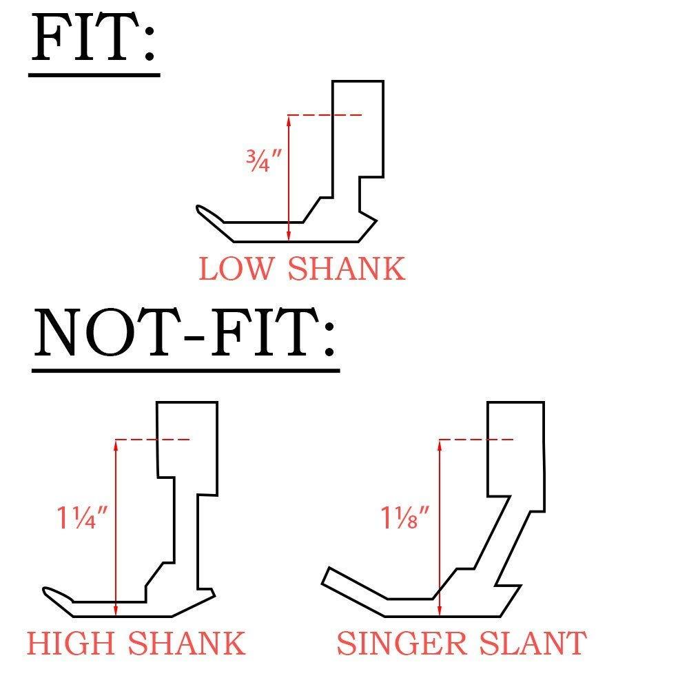 Queta 15 Piezas Prensatelas Repuestos Multifuncionales para la Máquina de Coser W6, Brother, Singer, Privilege, Janome, Husqvarna etc.