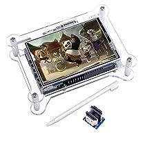 Kuman 3.5インチ 小型 HDMI モニター ラズベリーパイ3 b タッチス...