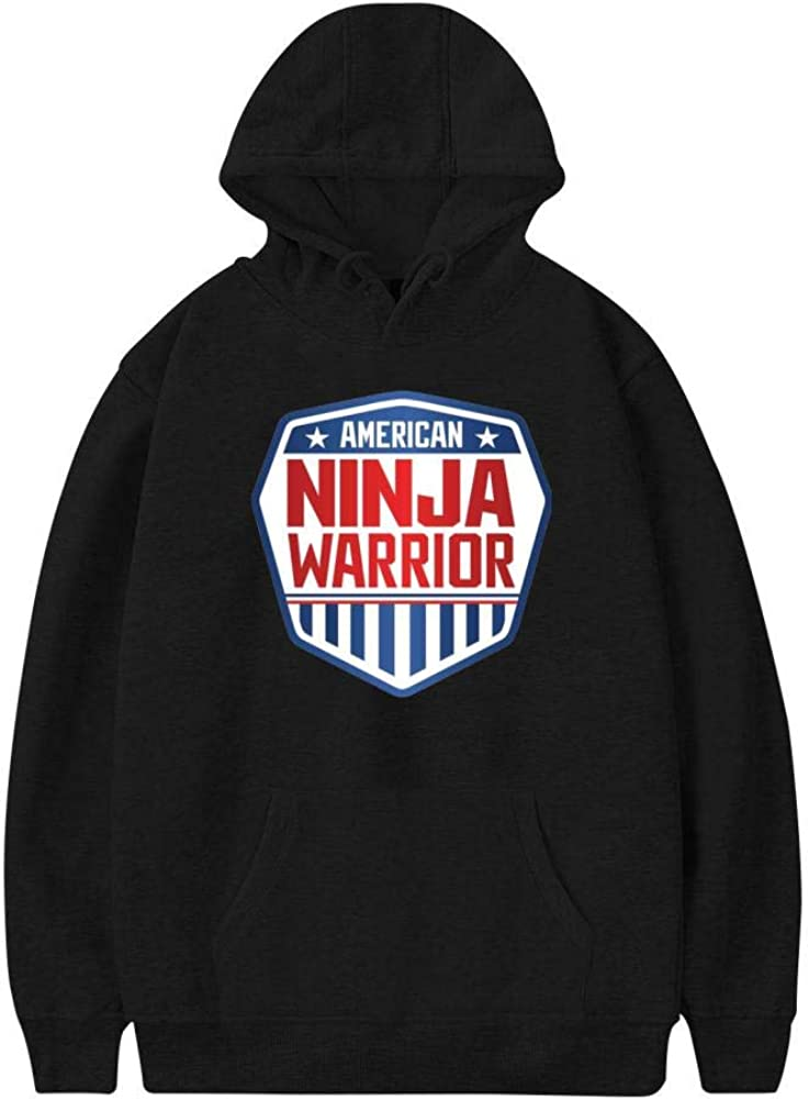 USA-Ninja-Warrior Fashion Mens Hoodies Printed Hooded Sweatershirt Pullover Cotton Long Sleeve Sweater