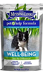 The Missing Link - Pet Kelp Formula, Well-Being, Limited Ingredient Superfood Supplement For Dogs 8 oz