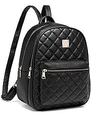 Myhozee Zaino Donna Pelle PU Zainetto Ragazza Casual Zaini Casual Daypack Backpack per Scuola Viaggio Lavoro Shopping