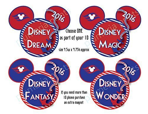 Handmade Disney Inspired Nautical Anchor Mouse Head - Set of 10