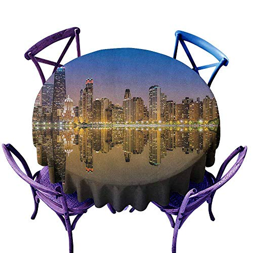 familytaste Chicago Skyline,Table Cover for Home Wedding Tables D 60