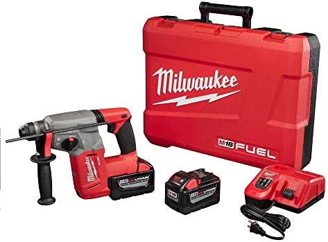 Milwaukee M18 FUEL 18-Volt Lithium-Ion Brushless 1 in. SDS-Plus Rotary Hammer High Demand 9.0Ah Kit Hardware Power Tools for Your Machine Shop, Construction or Jobsite Needs