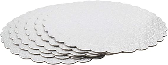 Cooke /& Miller Premium Thin Silver 2 Pack Cake Boards 10 Inches