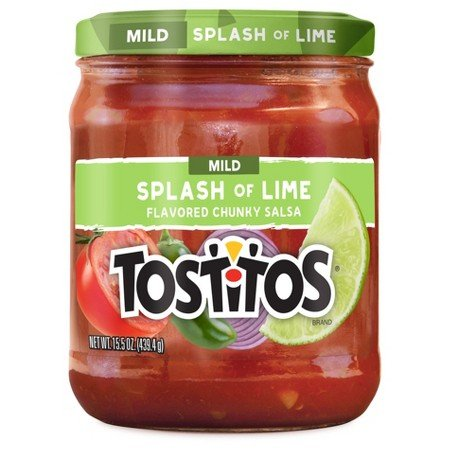 Tostitos Mild Splash of Lime Flavored Chunky Salsa, 15.5 Ounce - Blended Mild Salsa