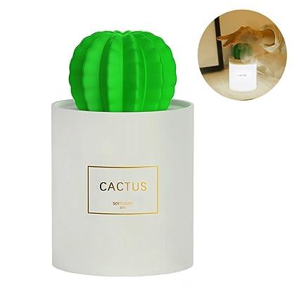 DAREN&KIWI Difusor de Aroma con Luz de Noche, 280ml Mini Humidificador Ultrasónico Cactus, Difusor de Aceite Esencial para Oficina Dormitorio SPA Yoga