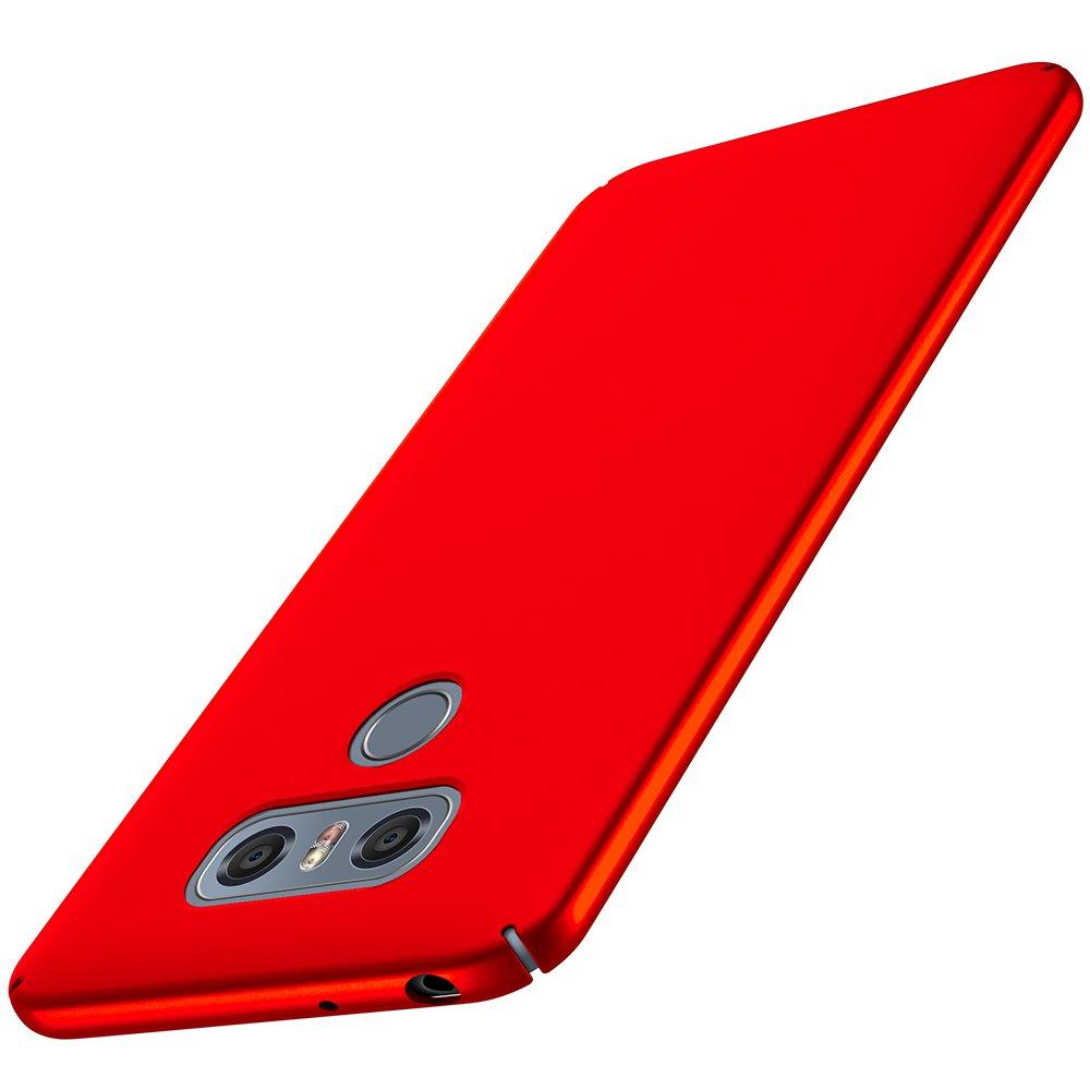 Anccer LG G6ケース[カラフルシリーズ] [超薄型] [アンチドロップ]プレミアム素材スリムフルプロテクトカバーLG G6用(レッド)   B079GZ549D