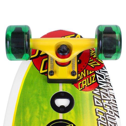 d812cc52 Amazon.com : Santa Cruz Skate Land Shark Rasta Sk8 Complete Skate Boards,  8.8 x 27.7-Inch : Longboard Skateboards : Sports & Outdoors