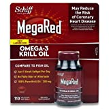 mega red omega - MegaRed Omega-3 Krill Oil 300 mg (Mega Red), 110 Softgels, Schiff