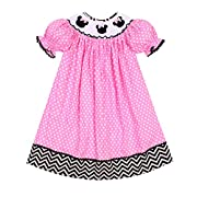 Babeeni Baby Girls Smocked Dress with Angel Sleeves