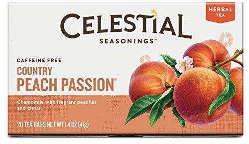 Celestial Seasonings Herbal Tea, Country Peach Passion, 20 Count (Pack of -