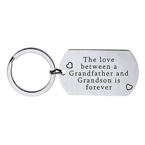 Amazon.com: Llavero de abuelo regalo de nieta nieto para el ...