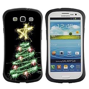 Suave TPU GEL Carcasa Funda Silicona Blando Estuche Caso de protección (para) Samsung Galaxy S3 I9300 / CECELL Phone case / / Tree Black Star Lights Black /