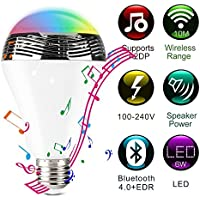 Smart Colorful LED Light Bulb Wireless Bluetooth Speaker Color Changing Light bulb Works IOS and Android Phones White Light Back to School Special