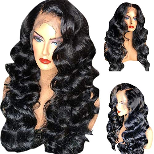 Clearance 26 inch 360 Lace Frontal Wig Pre Loose Wave Wigs for Black Woman 150% Density Nature Color