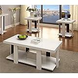 amazon com furniture of america oslo 3 piece modern accent tables
