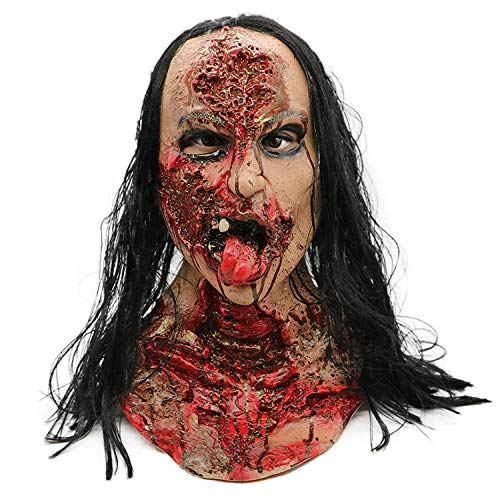 Easy At Home Costumes Adults - SUNKY Scary Ghost Bloody Mask with
